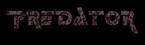 Predator Blood Splatter Logo